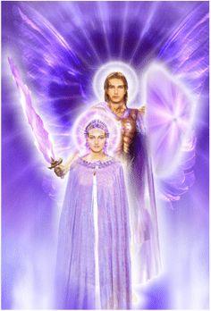 Arcanjos Ezequiel e Ametista