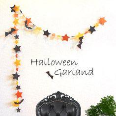 ガーランド ハロウィン! Halloween Paper Crafts, Halloween Garland, Halloween Tags, Halloween Door Decorations, Halloween House, Fall Halloween, Diy Garland, Creations, Wall Pictures