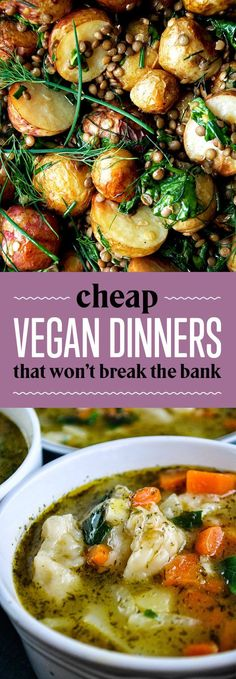 26 Budget-Friendly Dinners With No Meat Or Dairy 26 Cheap Vegan Dinners That Won't Break The Bank - Delicious Vegan Recipes Vegan Foods, Vegan Dishes, Paleo Diet, Healthy Foods, Whole Foods Vegan, Healthy Protein, Sports Nutrition, Healthy Nutrition, Ketogenic Diet