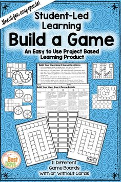 Do you want your students to create new and interesting games? Are you worried that they need guidance? Here's the answer! Students can use these game boards and cards to create that very project you wish for! Grab them now at The Best Days! Middle School Classroom, Future Classroom, Classroom Games, Classroom Resources, Classroom Organization, Teaching Tools, Teaching Resources, Teaching Ideas, Sixth Grade