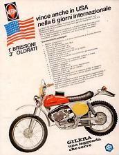 anni 70 MOTO GILERA Brissoni Advert werbung reklame vintage