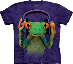 Take a look at this Purple DJ Peace Tee - Toddler & Kids by The Mountain on today! Frog T Shirts, Tee Shirts, Sweat Shirt, Green Companies, Big Face, Merida, Graphic Tees, Shirt Designs, Peace