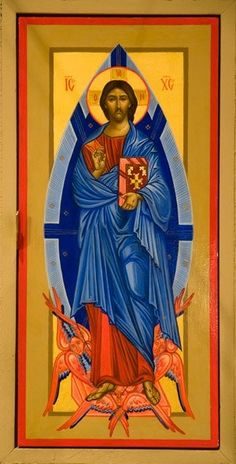Christ in Glory – Iconography Institute Images Of Christ, Religious Images, Religious Icons, Religious Art, Writers Of The Bible, Christus Pantokrator, The Transfiguration, Paint Icon, Christ Is Risen