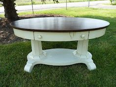 Antiqued Oval Table