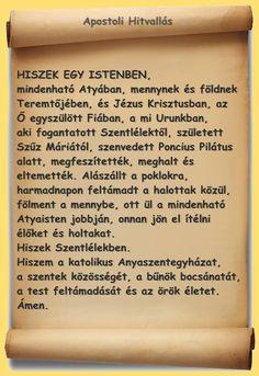 Apostoli hitvallás