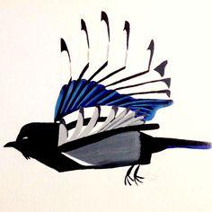 Magpie Acrylic on Canvas
