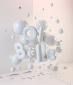CG Typography - Oh Balls! Self Initiated Project - Oh Balls, Typography Artwork Typography Drawing, Typography Alphabet, Typography Poster, Typography Design, Lettering, 3d Alphabet, 3d Artwork, Artwork Design, Motion Design
