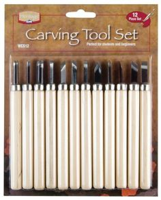 Features:  -Carving Tool Set.  -For use on soft wood or rubber.  -Economically priced.  Product Type: -Sculpting & Clay. Dimensions:  Overall Product Weight: -0.4 lbs.  Overall Height - Top to Bottom: