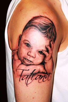 Baby Portrait tattoo #portrait #tattoo
