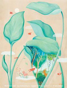 산그림 작가의 개인 갤러리 입니다. Korean Illustration, Gallery, Drawings, Illustrator, Blog, Inspiration, Samsung, Colour, Design