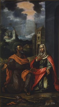 Saint Joachim and Saint Anne / San Joaquín Y Santa Ana // 17th c. // Francisco Pacheco // Real Academia de Bellas Artes de San Fernando