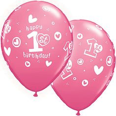 """Included: 10 Balloons Total """"Happy Birthday"""" Latex Balloons Print is on all sides Colors include Rose Print is White These items may arrive flat or in retail packaging All balloons sold online 1st Birthday Quotes, Birthday Greetings For Kids, Birthday Msgs, Happy Birthday Parties, Belated Birthday, Happy 1st Birthdays, 1st Birthday Girls, Birthday Wishes, Cowgirl Birthday"""