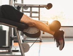 Lying leg curls is a primary isolation exercise which focuses on strengthening and increasing the flexibility of hamstrings and calf muscles. Gym Workouts, At Home Workouts, Leg Curl Machine, Lying Leg Curls, Glutes, The Help, Calves, Strength