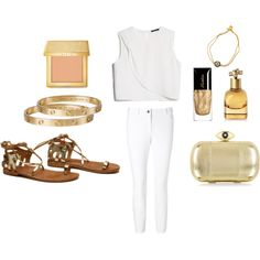 """Golden Goddess with Crete"" by the-meraki-company on Polyvore"