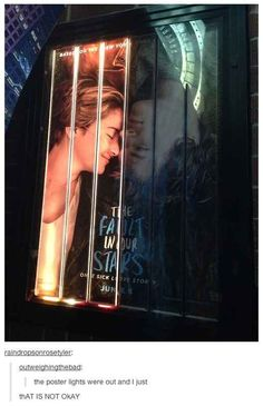 """This Is The Saddest """"The Fault In Our Stars"""" Poster You'll Ever See I want to see this"""