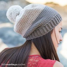 I love the idea of color-blocking. It's such a modern twist on the classic stripes, and there aren't nearly as many ends to weave in at the end. That's a win for me! For this hat pattern, I chose 3 neutral colors from Cascade Yarn's Longwood line (which has soooo many color options).
