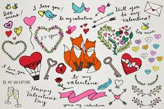 Valentine's Day Illustrations by Lemonade Pixel on Creative Market