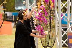 Flower installations at the Flower Food and Wine Festival