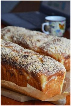Bread Bun, Bread Cake, Baking Recipes, Cake Recipes, Dessert Recipes, Breakfast For Dinner, Breakfast Recipes, Sweets Cake, Pudding Cake
