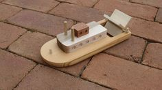 Homegrown Cincinnati paddleboat made using only wooden longboard scraps. Sealed with organic beeswax so this toy is safe for children. Great bath time toy!
