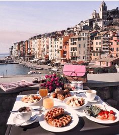 During our visit the cinque terre region we decided to stay in This city is not so famous like the cinque terre villages but… Holiday Destinations, Travel Destinations, Breakfast Around The World, Perfect Breakfast, Travel Aesthetic, Adventure Is Out There, Travel Goals, Luxury Travel, Dream Vacations