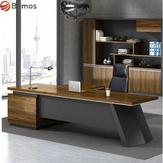 Office Cabin Design, Small Office Design, Office Furniture Design, Home Office Setup, Office Interior Design, Office Interiors, Modern Office Table, Geometric Furniture, Luxury Office