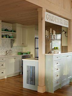 small alley kitchen design - Google Search