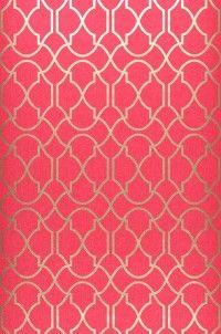 Telenzo wallpaper in raspberry & gold; just lovely