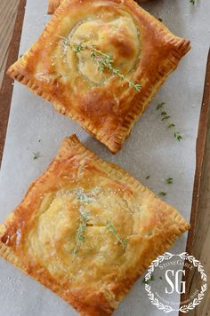 puff pastry broccoli ham and cheese hand pies from stonegableblog.com