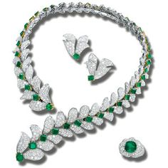 Emerald and diamond parure | Lot | Sotheby's