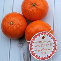 Orange you Awesome : Free Printable Valentine | Spoonful
