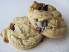 This is my twist on a recipe called award winning chocolate chip cookies. These cookies are perfect- they stay soft for days (that is, if they last that long)!