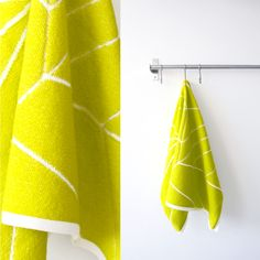 knitted towel by STRIKKS, http://strikks.tictail.com/