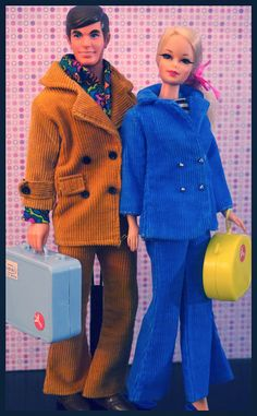 Mod Era Barbies - Talking Ken and Twist n' Turn Stacey