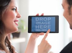 New Mockup! Couple Using a Nexus 7 in Landscape. Try it here: https://placeit.net/#!/stages/man-and-woman-overshoulder