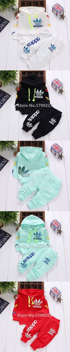 2015 Brand Autumn Style Children Baby Boys Girls 2pcs Clothing Set Newborn Infant Kids Tracksuit Baby Hooded Shirt+pants Sets