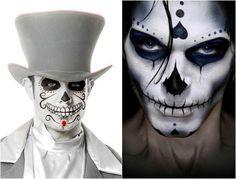 maquillage Halloween homme visage avec grillage barbelé