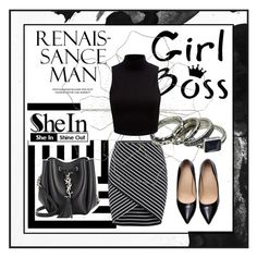 """""""Shein 5-5"""" by lejlamoranjkic ❤ liked on Polyvore featuring PTM Images, West Elm, Pier 1 Imports, Yves Saint Laurent, Forever New, vintage, women's clothing, women, female and woman"""
