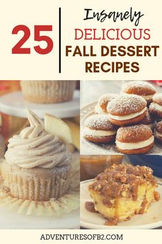 25 insanely delicious fall dessert recipes that are mouthwater desserts that perfect for holiday parties or to feed a crowd! Fall Dessert Recipes, Desserts For A Crowd, Fall Desserts, Fall Recipes, Delicious Desserts, Snack Recipes, Vegan Snacks, Holiday Pies, Chewy Sugar Cookies