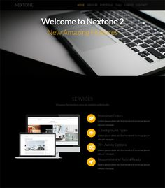 This dark Joomla theme offers unlimited colors, a filterable Ajax portfolio, 5 header styles, unlimited colors, a responsive layout, a one page design, a dropdown menu, Google Web Fonts, and more.