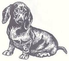 dachshund stamp @Poppy Treffry #bedachshing