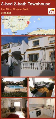3-bed 2-bath Townhouse in Los Altos, Alicante, Spain ►€105,000 #PropertyForSaleInSpain