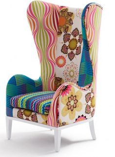 The Kaleidoscope Range Wing Chair. Bring vibrancy into the everyday with our…