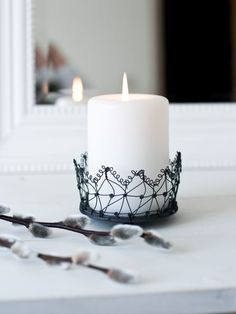 Delicate candle holder.