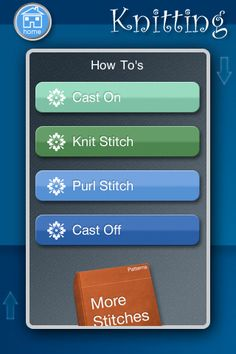 Easy Stitch is a very popular app that covers crochet, embroidery and knitting with step-by-step instructions and full color illustrations. The detail that goes into each tutorial is impressive and easy to follow, which makes the app price a little easier to handle. Generally viewed as one of the best apps out there if you're looking to get started with an easy how-to guide.