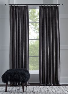 The Kingsley Collection: our relaxed, grasscloth-inspired semi-sheers come with or without lining. Sewn at our Factory in the USA. Draperies available in Signature Stores only. Drapery, Curtains, Mitchell Gold, Game Room, Window Treatments, Interior Decorating, Inspired, Usa, Inspiration