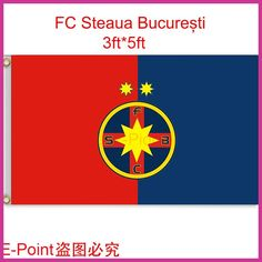Romania (Liga 1 Bergenbier) FC Steaua Bucuresti hanging decoration Flag B 3ft*5ft (150cm*90cm)