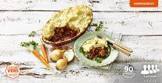 Sheppards Pie, rundvleesstoof met bier en uien, afgedekt met een krokant aardappelpureekorstje #Lidl #lidlherfst #kiesherfst