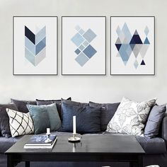 Latest Obsession:  Blue Geometric Sh... Shop Now! http://www.shopelettra.com/products/blue-geometric-shape-design-canvas-print?utm_campaign=social_autopilot&utm_source=pin&utm_medium=pin
