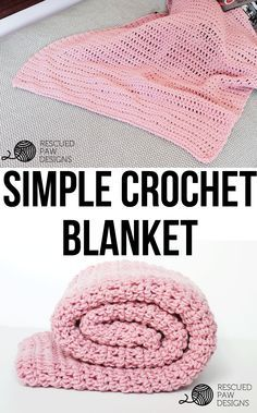 Simple Crochet Blanket Pattern From Rescued Paw Designs Free & Simple Crochet Blanket Pattern - Perfect for Beginners! Crochet Pattern By Rescued Paw Designs